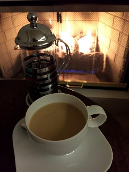 I enjoyed tea in my room each evening. Photo by Susan Lanier-Graham