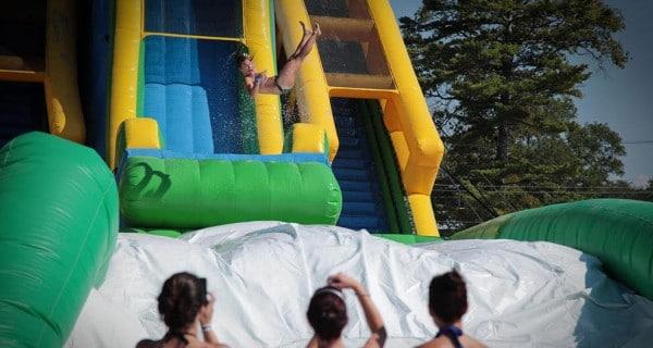 New inflatable Aqua Flyer water slide. Photo courtesy Fairmont Scottsdale Princess