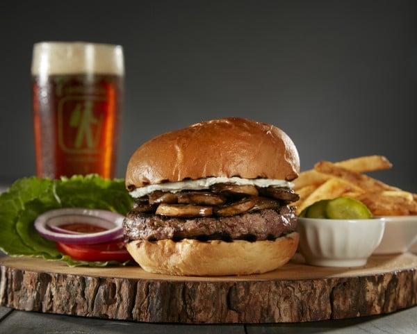 BBQ Bison Burger at The Phoenix Ale Brewery Central Kitchen