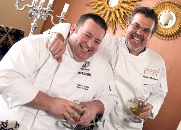 Chef de Cuisine Forest Hamrick and Celebrity Chef Richard Sandoval. Photo courtesy Fairmont Hotels
