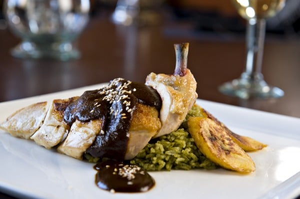 Enjoy a traditional Pollo en Mole de Abuelita at La Hacienda. Photo courtesy Fairmont Hotels