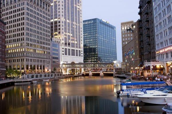 Milwaukee's Riverwalk. Photo courtesy Visit Milwaukee