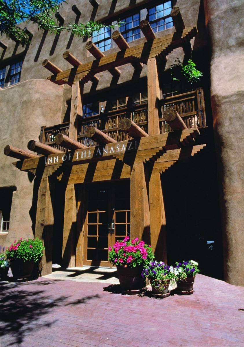 Inn of the Anasazi exterior Santa Fe
