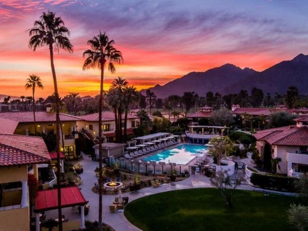 Sunset over Miramonte Resort and Spa. Photo courtesy Miramonte Resort and Spa