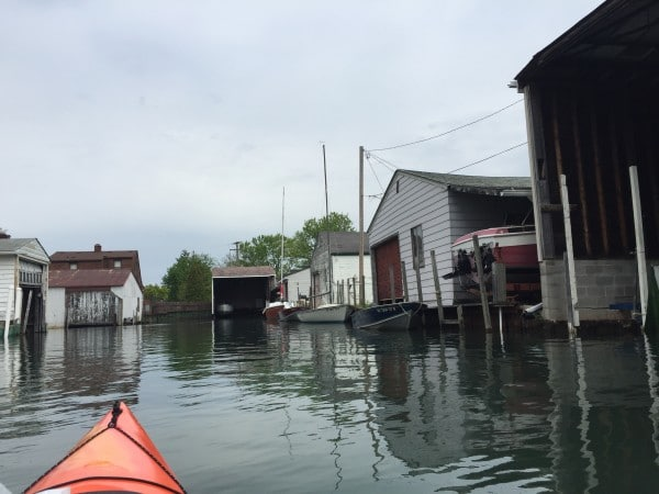 kayaking Detroit's canals