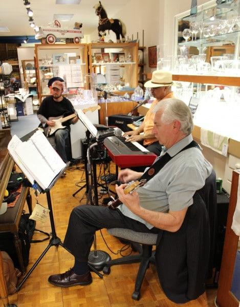Musicians at Burton Jewelers