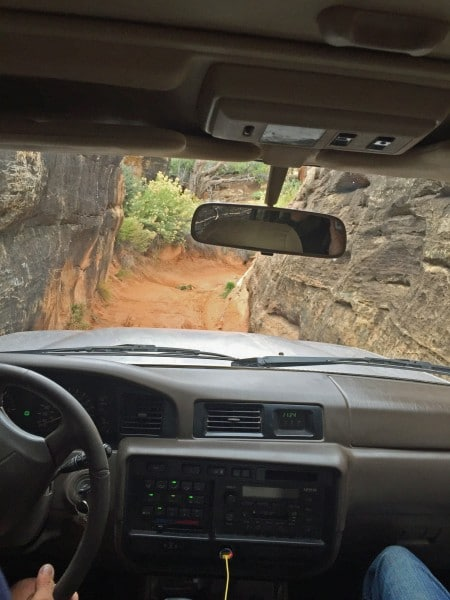 4x4 Through Narrow Canyon