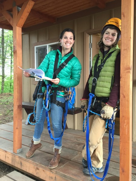 Pumpkin Ridge Zip Line Guides help with your zip line adventure near Portland, Oregon