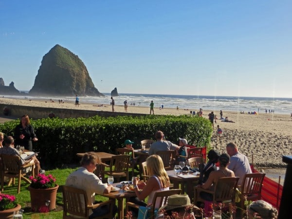 Dining with a View of Haystack Rock
