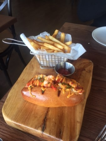 The Hampton's are known for lobster rolls...off season they are hard to find but enjoy one at the refurbished Gurney's Montauk. Photo credit: Barbara Barrielle