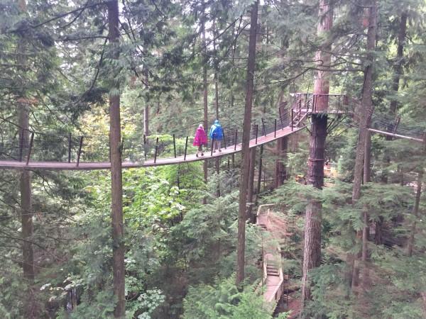 Capilano suspension bridge Vancouver BC - outdoor activities vancouver