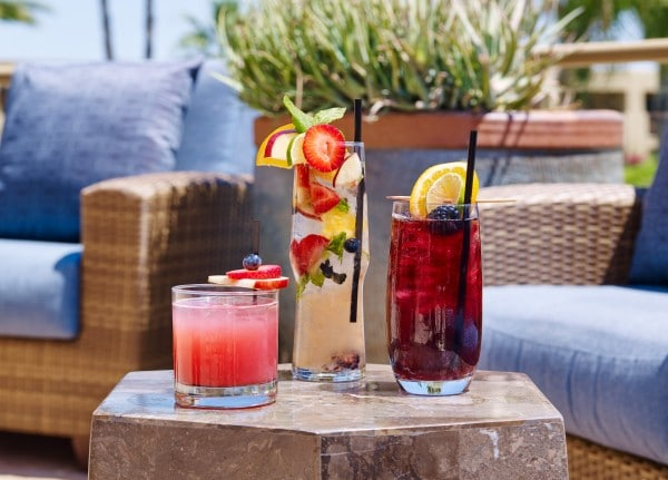 Enjoy signature cocktails by the pool or in the evenings by the fire pit. Photo courtesy Hilton Tucson El Conquistador