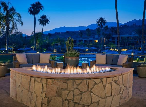 Hilton Tucson El Conquistador has relaxing fire pits for cozy evenings. Photo courtesy Hilton Tucson El Conquistador