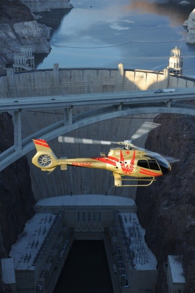 Grand Canyon Helicopters announces new Hoover Dam-area tours. Photo by Isaac Brekken for Grand Canyon Helicopters