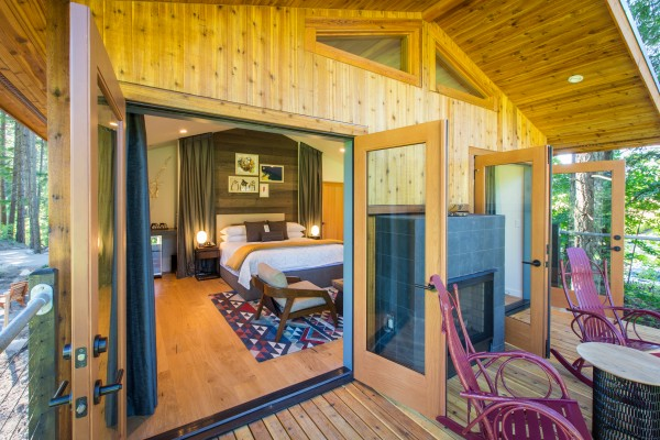 Stay in a luxury tree house at Skamania Lodge in Washington's Columbia River Gorge National Scenic Area 45 miles east of Portland, Oregon.