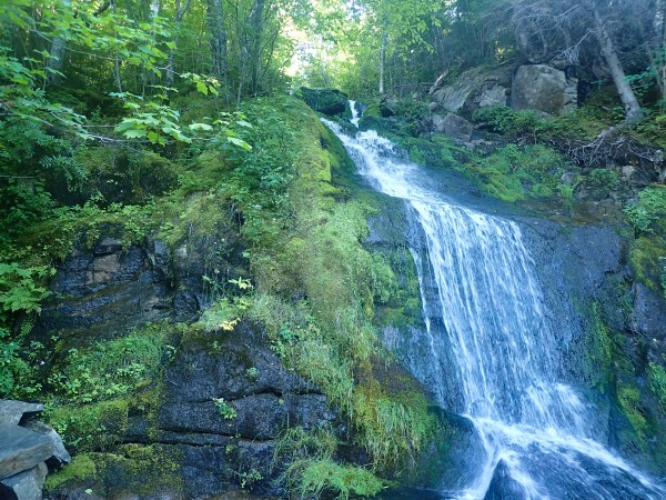 waterfall in Parc National du Fjord-du-Saguenay Quebec
