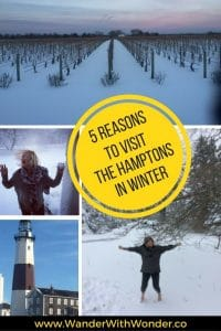 The Hamptons, the East Coast playground of the rich and richer, is not a typical winter playground. But here are 5 best reasons to visit The Hamptons in Winter.