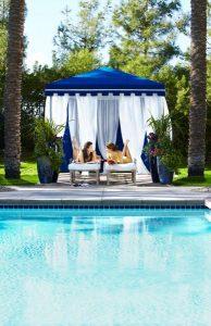 Relax in poolside cabana at Revive Spa. Photo by Rich Jones courtesy of JW Marriott Phoenix Desert Ridge Resort & Spa