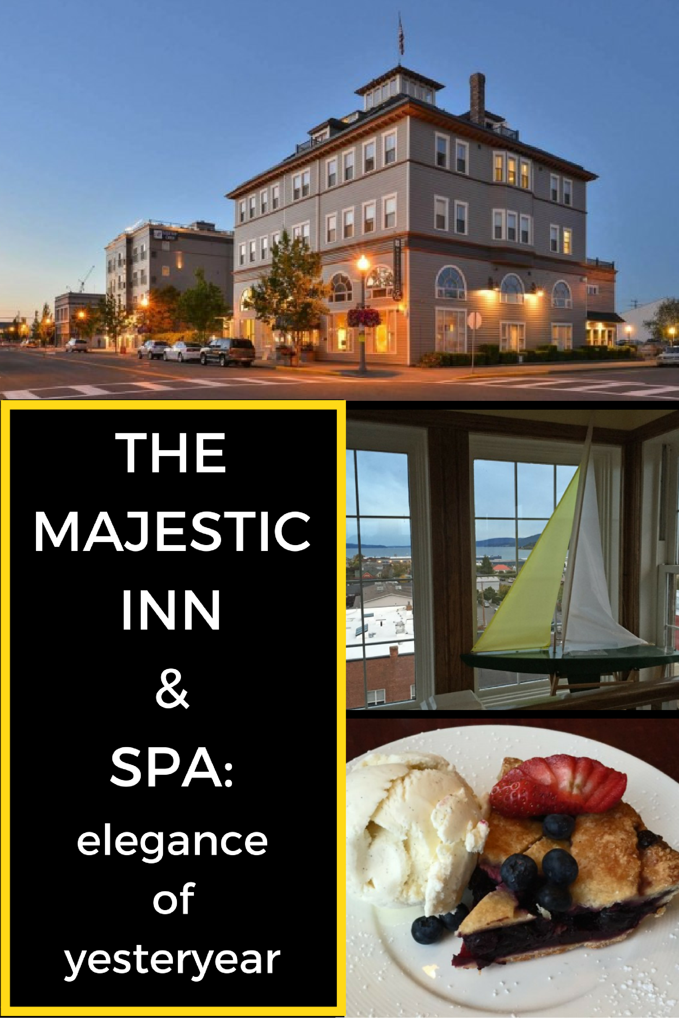 Read about Elizabeth's stay in the charming small town Anacortes, Washington at the Majestic Inn and Spa.