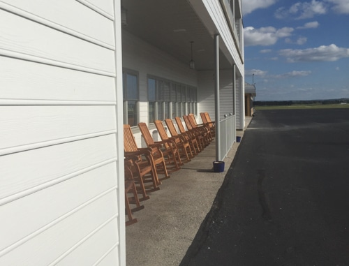 Hangar Hotel TX rocking chairs