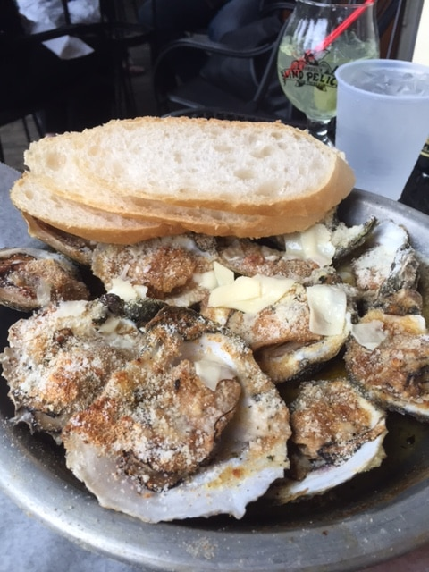 The .25 raw and .75 cent chargrilled Oyster Happy Hour at the Blind Pelican. Photo by Barbara Barrielle