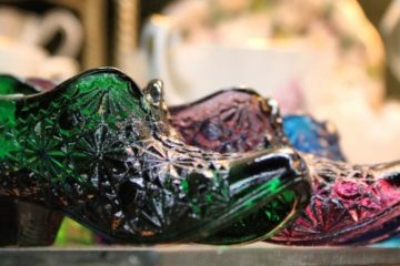 Vintage Glass Shoes at Monticello Market
