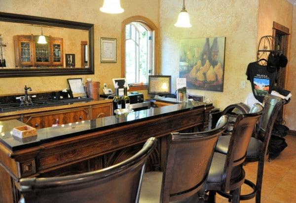 Olalla Winery tasting room.