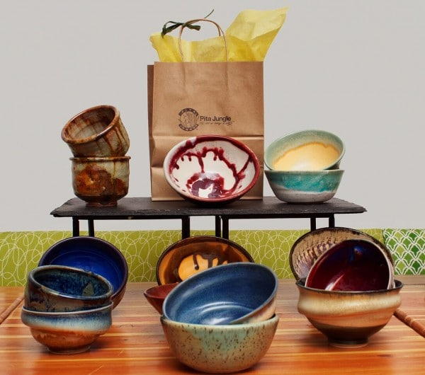 Empty bowls are custom, handmade clay creations by Arizona Clay Association artists sold for $15 each at Pita Jungle's 15 participating locations