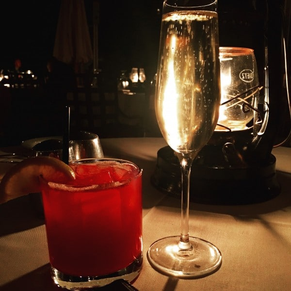Prickly Bourbon and Champagne start the evening at LON's at The Hermosa. Photo by Susan Lanier-Graham