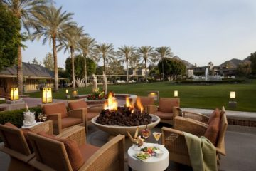 Enjoy drinks by the firepit at Arizona Biltmore. Photo courtesy Arizona Biltmore