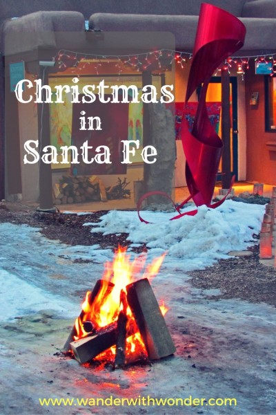 3 charming things to do in Santa Fe New Mexico at Christmas for a truly southwestern holiday experience.