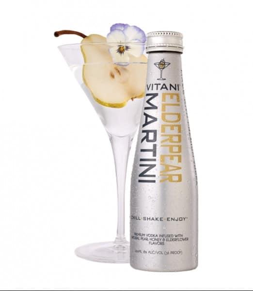 VITANI Elderpear Martini. Holiday cocktail recipes
