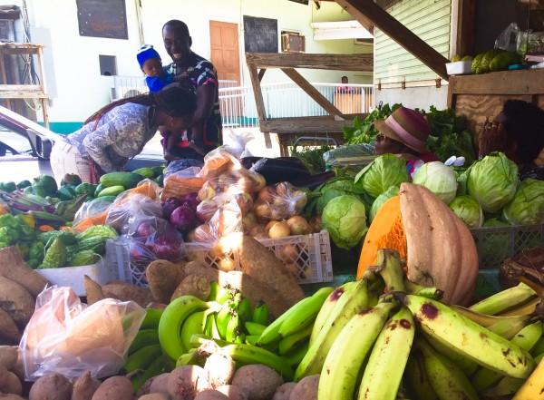 Tobago market scene