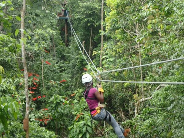 Ziplining in Trinidad
