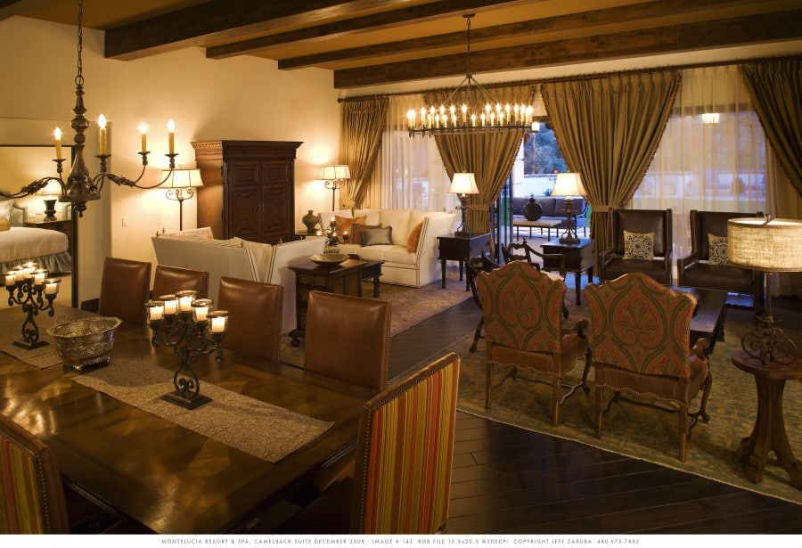 Inside the Camelback Presidential Suite. Photo courtesy Omni Scottsdale Resort & Spa at Montelucia