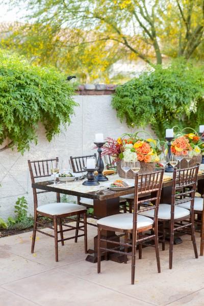Garden patio at the Chef's Kitchen. Photo courtesy Omni Scottsdale Resort & Spa at Monteluci