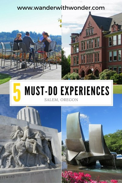 Here are five things that are must-do when when visiting Oregon's capital city of Salem including stunning views and plenty of history.