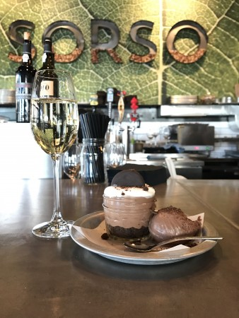 #MintHappens Chocolate Mint Cheesecake Mousse at Sorso Wine Room