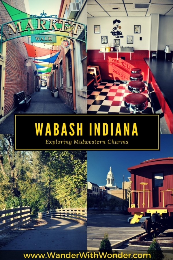 Explore midwestern charms of Wabash, Indiana, a mix of old & new with boutique inns, wine tastings, antiquing, and musical shows.