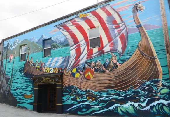Viking Ship Mural Poulsbo Washington
