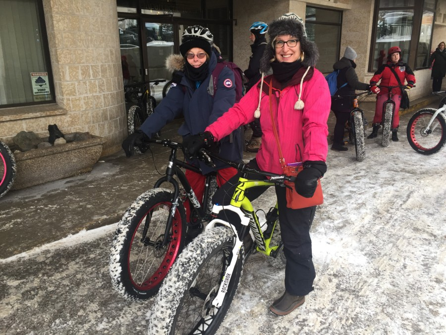 fat biking downtown Winnipeg