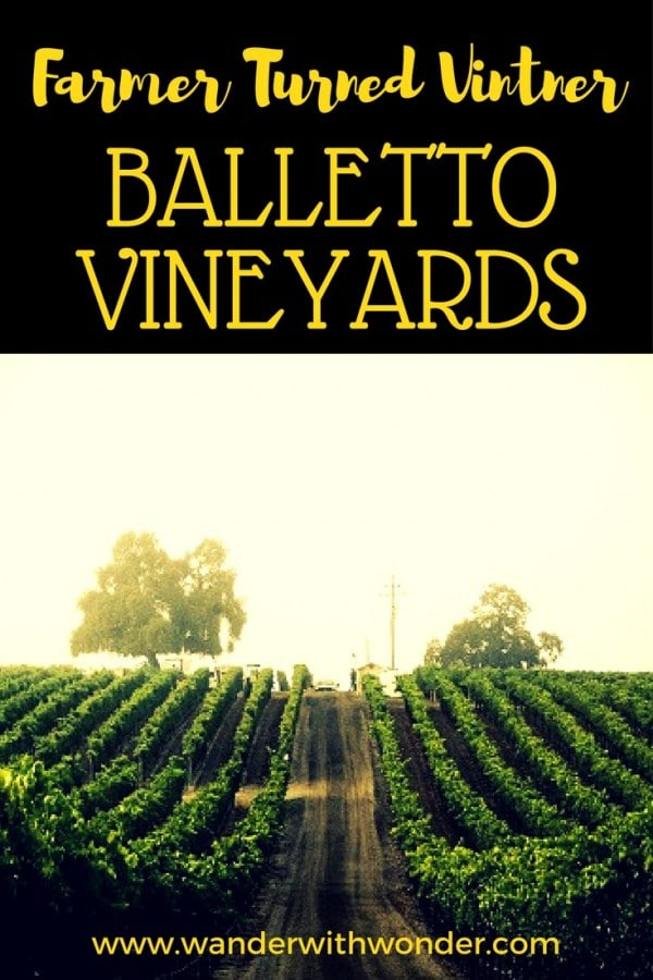 The Balletto Family story is a true wine country farming story; wander the history and the amazing wines of the Balletto Vineyards.