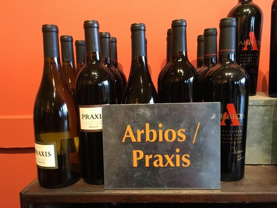 Elegant Arbios Cabernets and Fun Praxis Wines