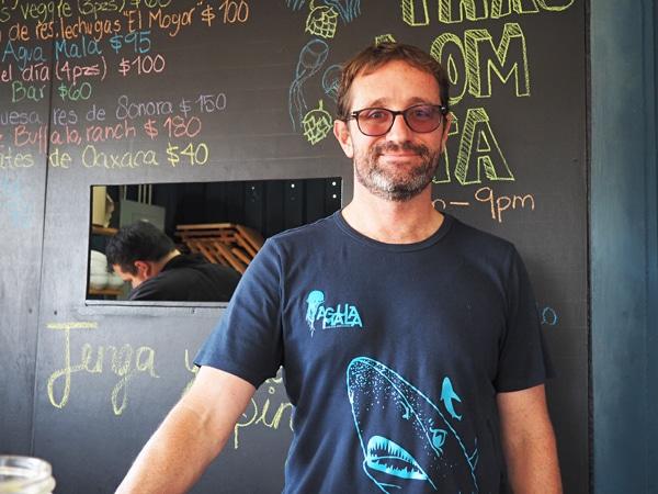 Agua Mala Brewery Owner/Brewmaster Nathaniel Schmidt - Baja beers
