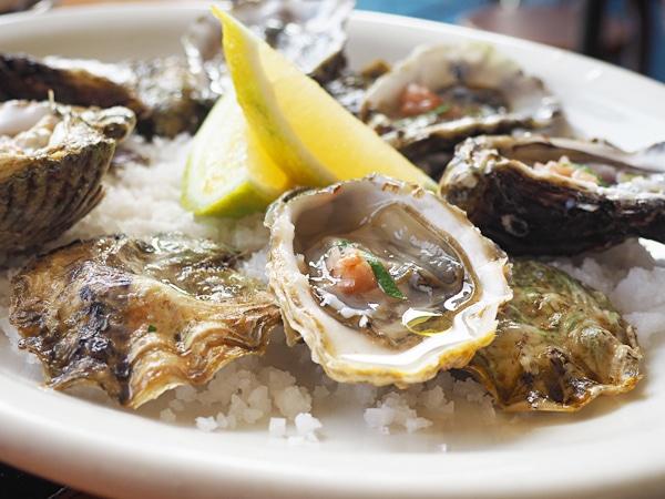 Agua Mala Brewery Raw Oysters. - Baja beers
