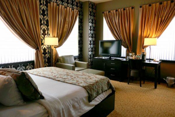 Hotel room at Giacomo Hotel. Photo by Susan Lanier-Graham