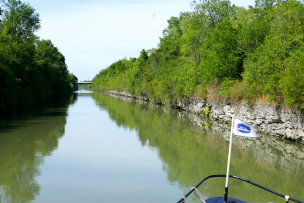 Cruising along the Erie Canal with Lockport Locks and Erie Canal Cruises. Photo by Susan Lanier-Graham