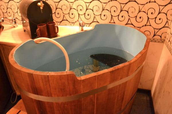 Latvia Sauna - Beer SPA Hot Tub in Riga. Photo by Ann Randall.