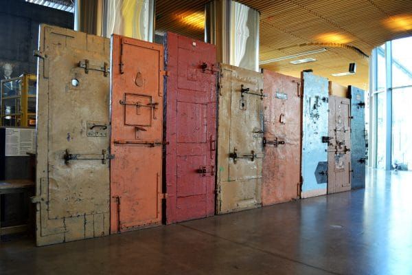 Iron Curtain - Prison doors of the Estonian Occupation Museum