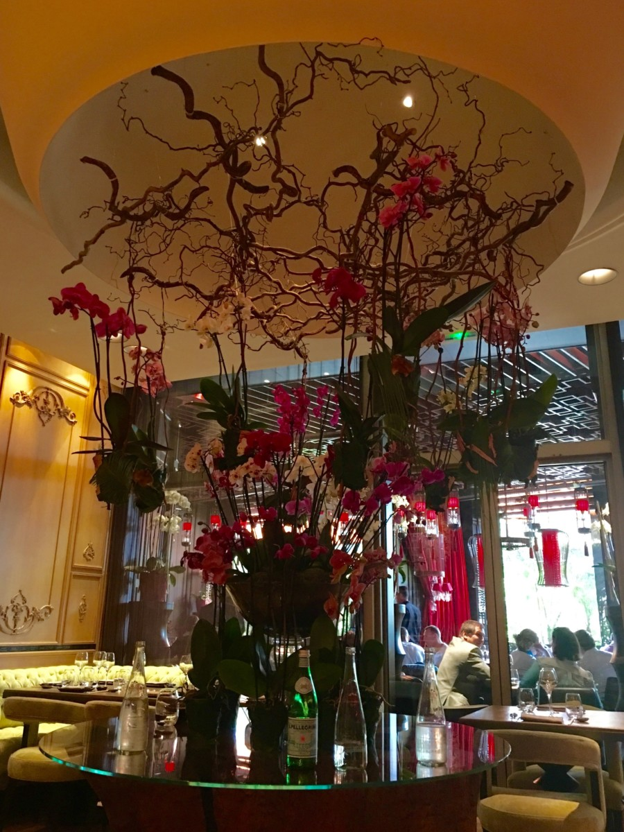 dining at Song Qi in Monaco